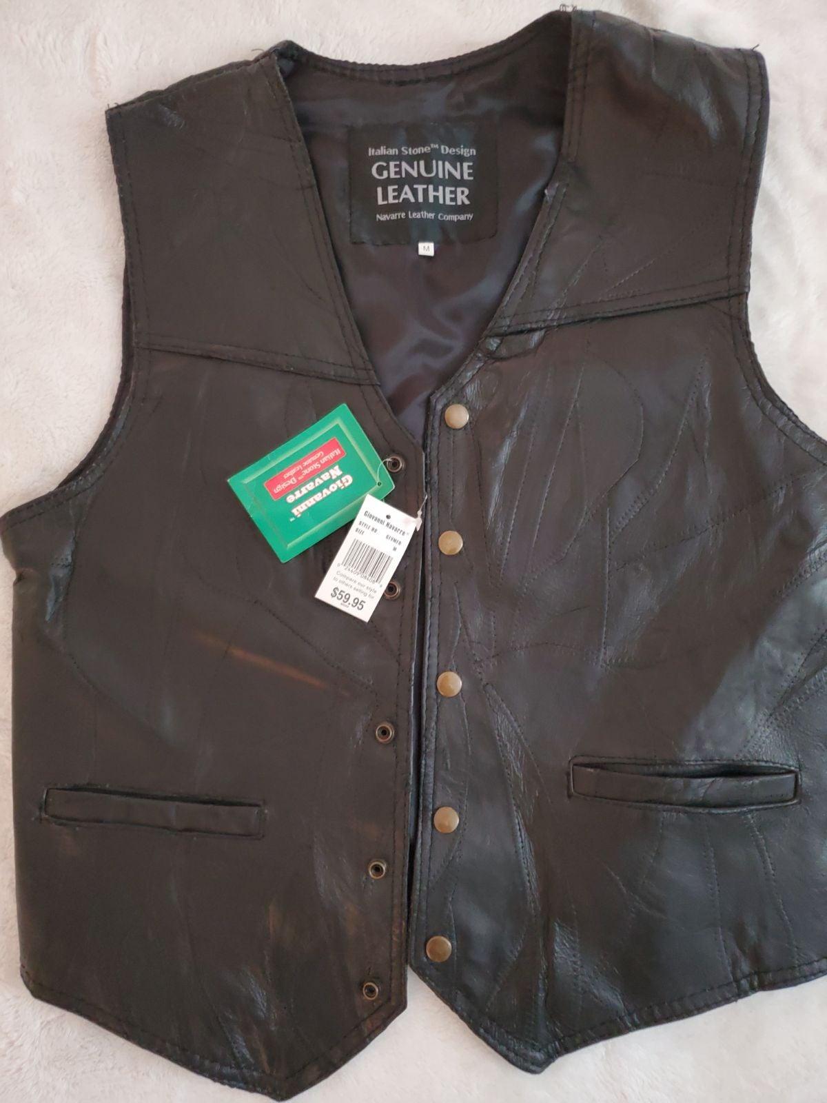 Genuine leather vest for men