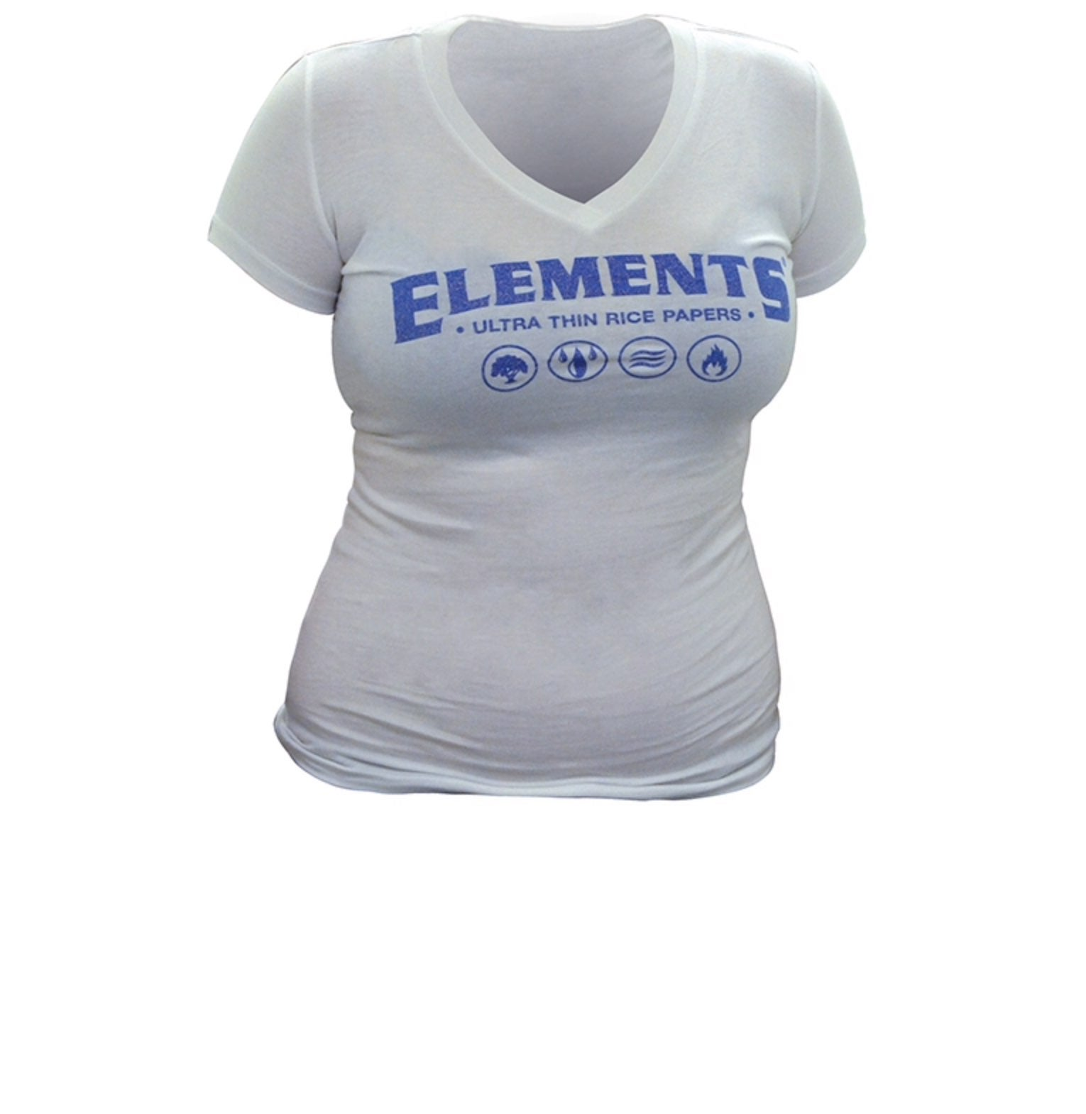 New Elements Ladies White Promo Shirt-M