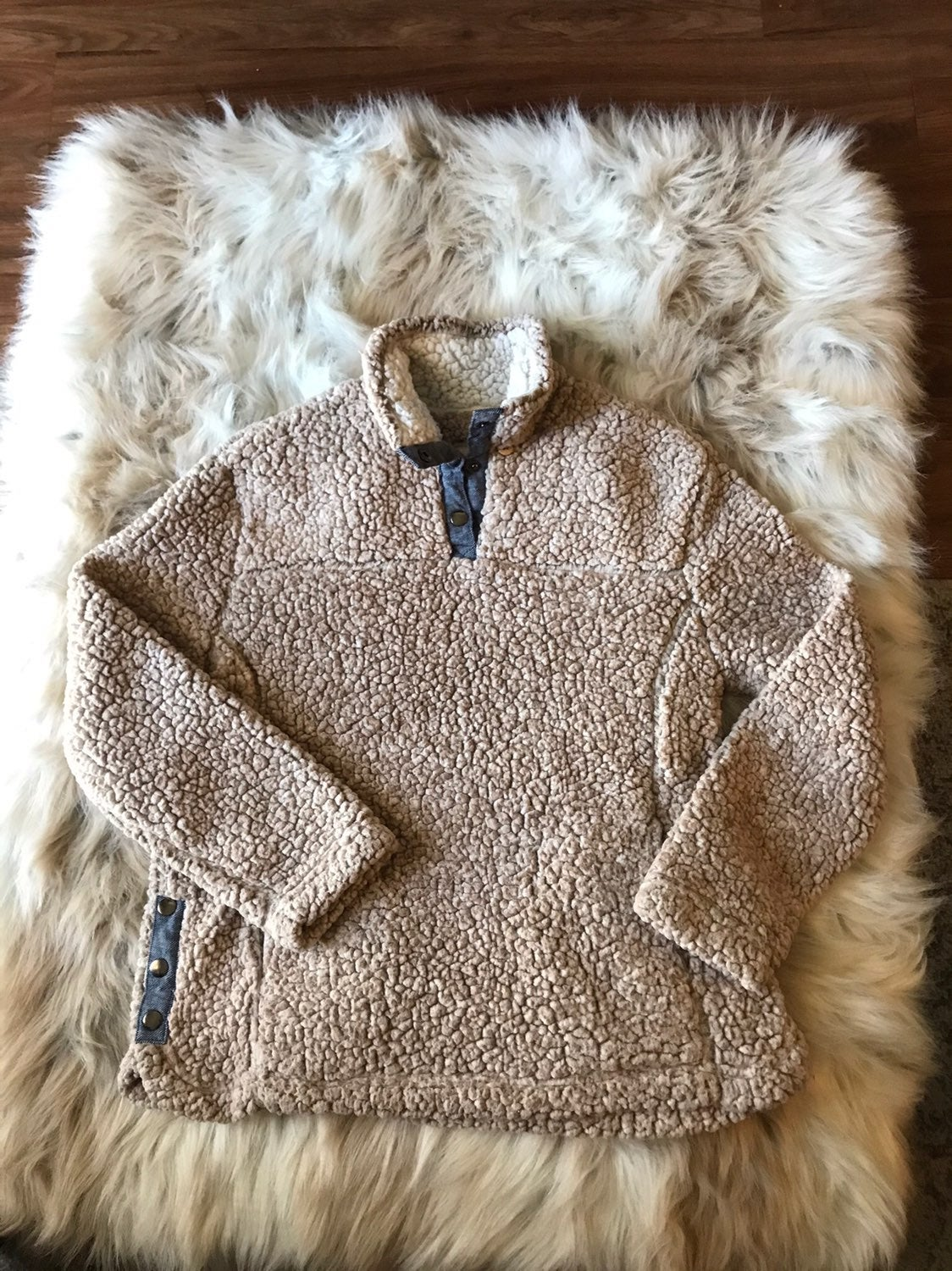 Altar'd State Sherpa Pullover Soft Top