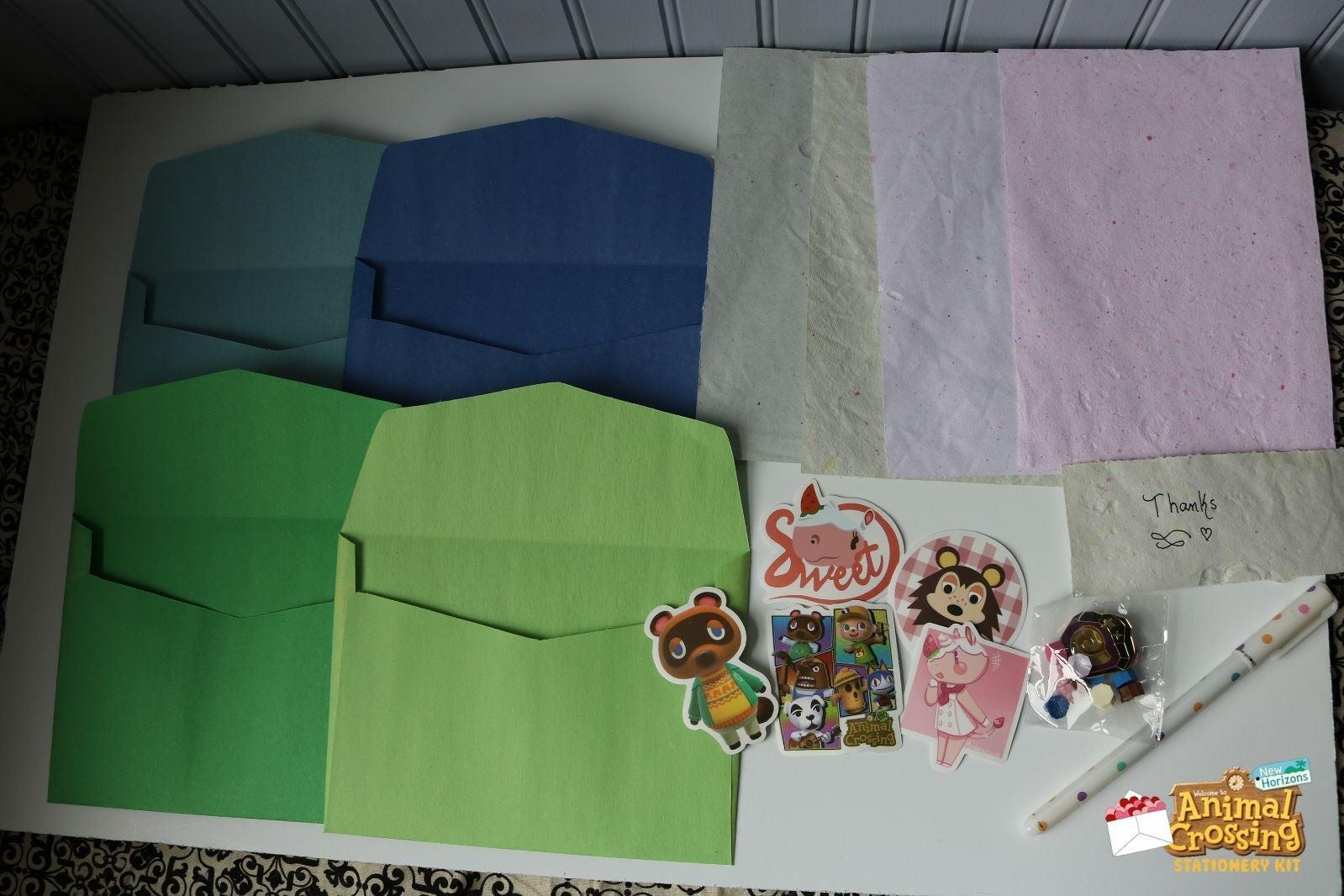 Animal Crossing Stationery Kit + GIFT PI