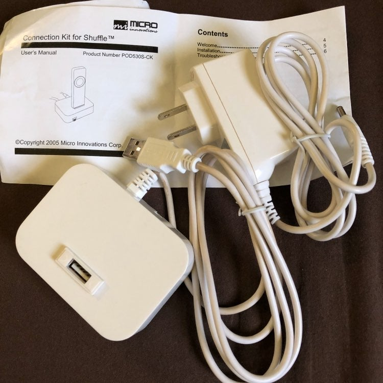 Connection kit for ipod shuffle