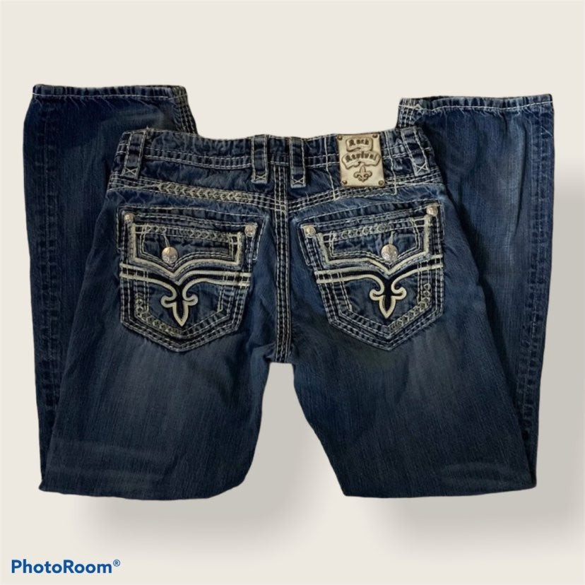 Mens Rock Revival Jeans 33R