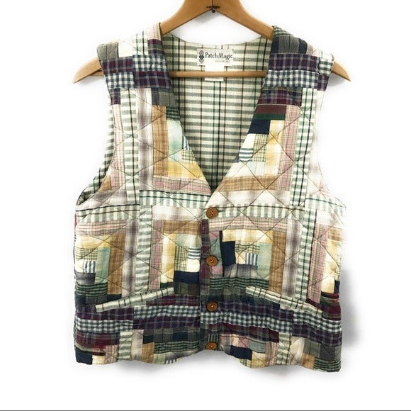 Patch Magic Womens Patchwork Vest, Small