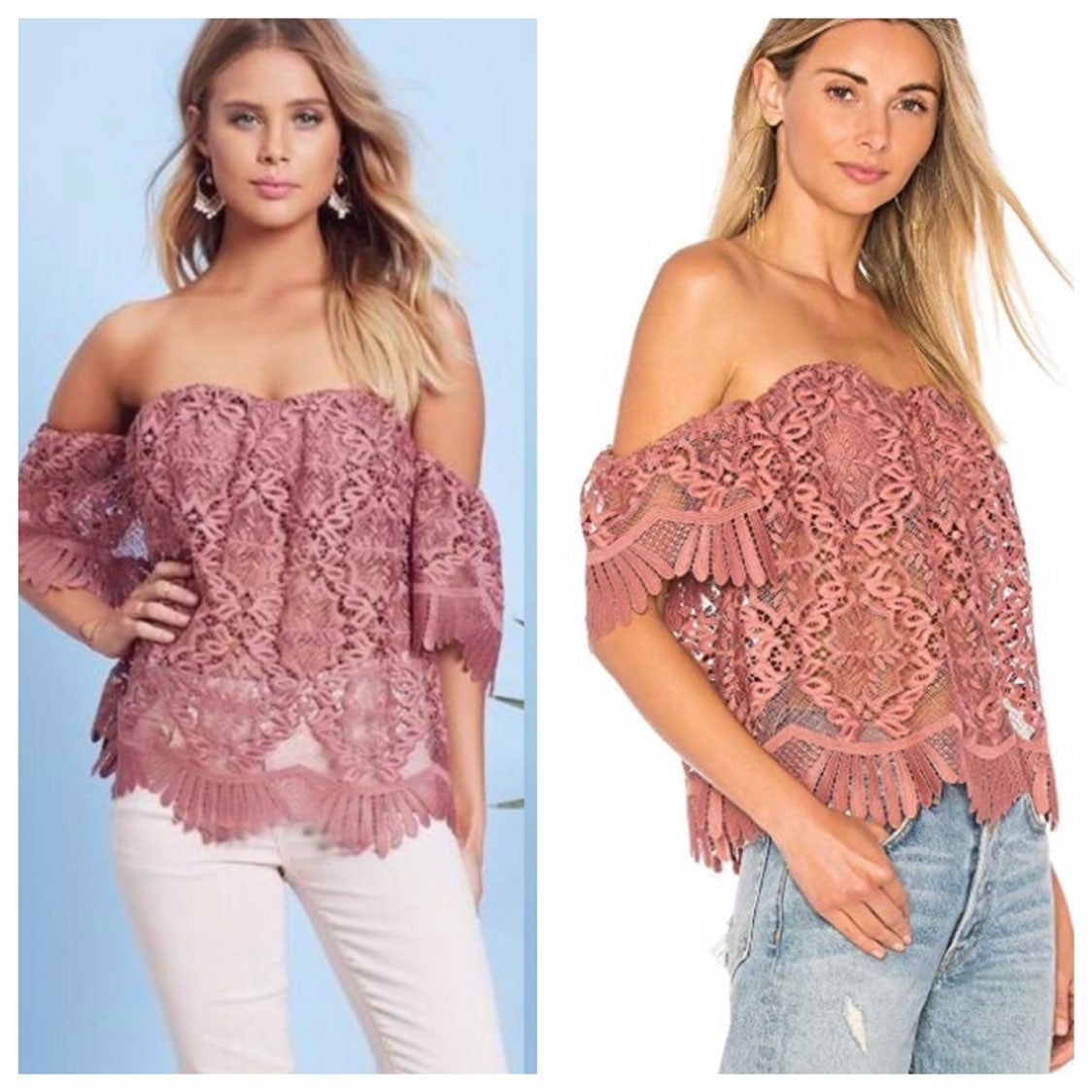 Lovers & Friends lifes a beach lace top