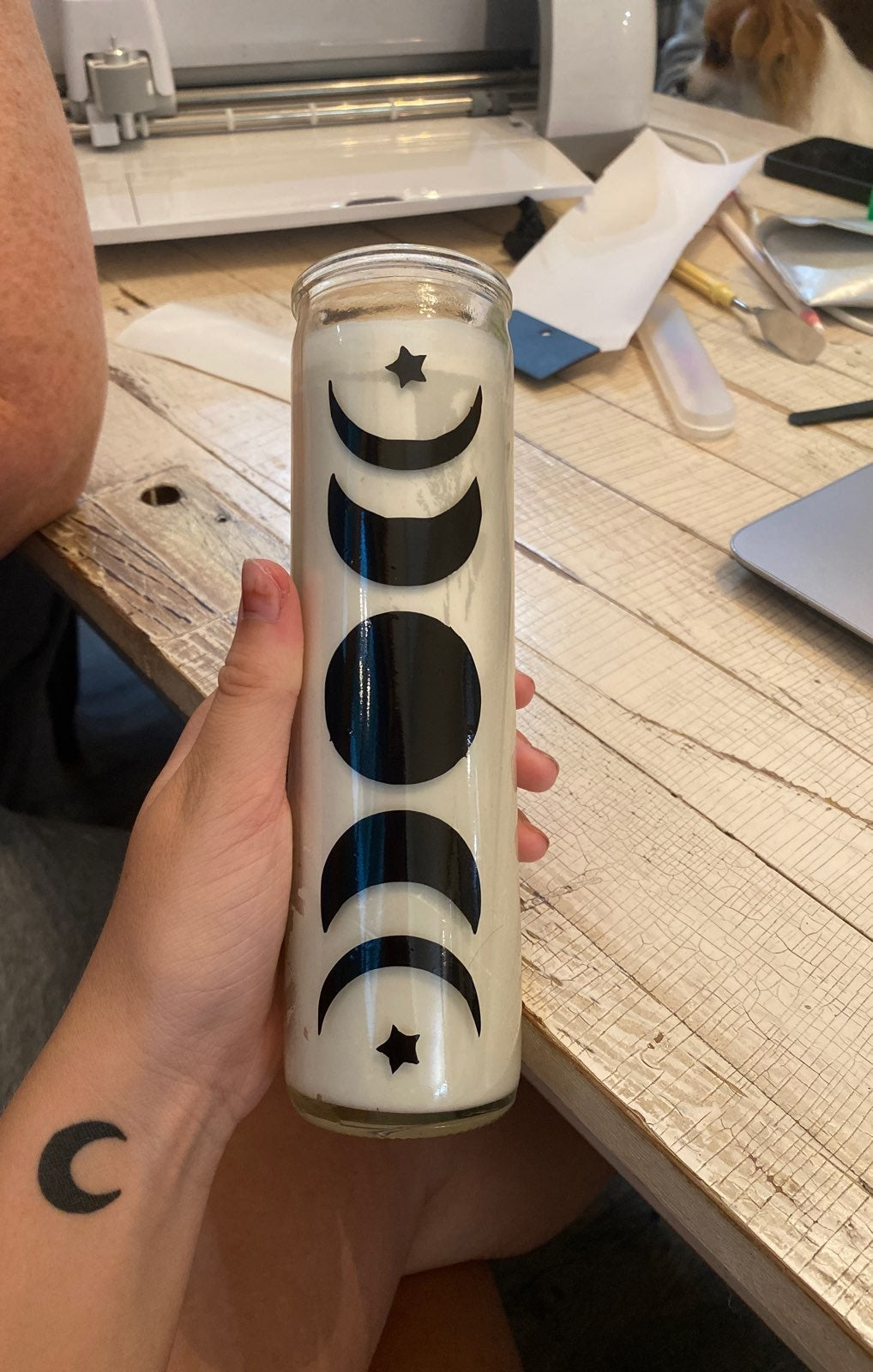 moon phase candle