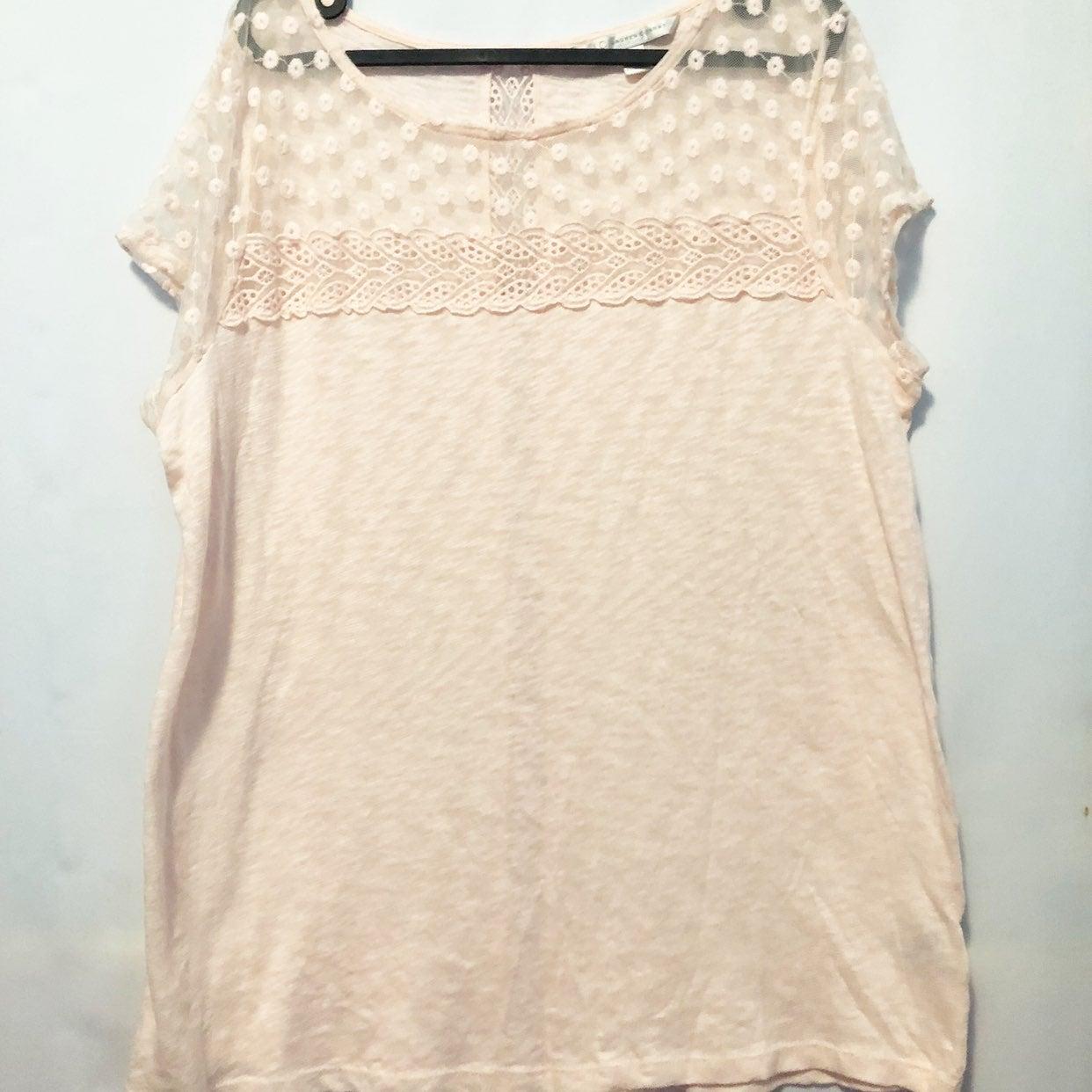 LC Lauren Conrad knit lace top