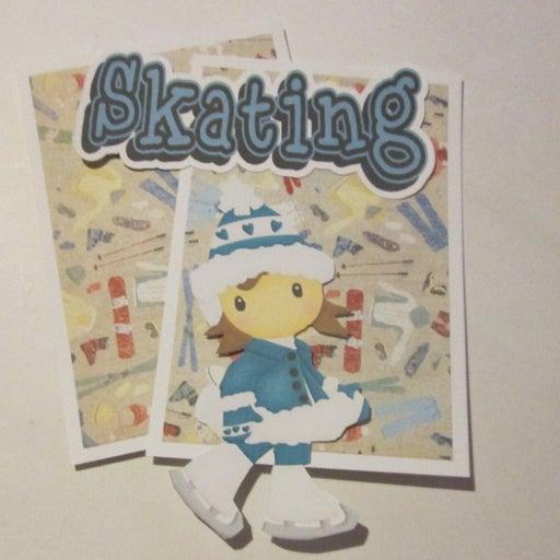 Skating Girl - Scrapbook or Card Set