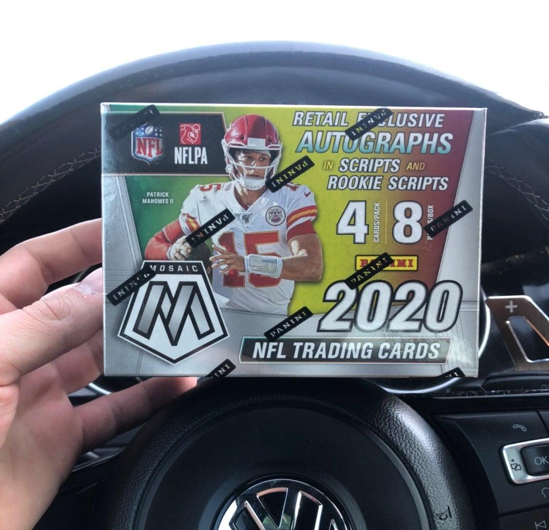 2020 nfl panini mosaic football blaster