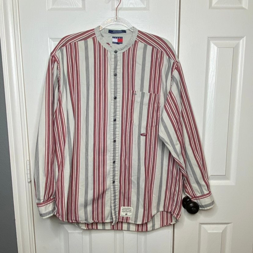 Vintage Tommy Hilfiger Long Sleeve Butto