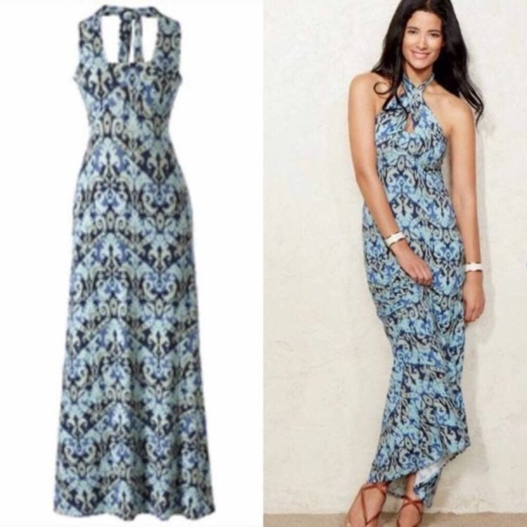 Cabi maxi dress with halter style Small