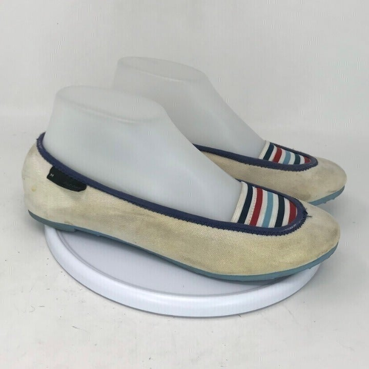 Marc Jacobs Womens Striped Slip On Flats