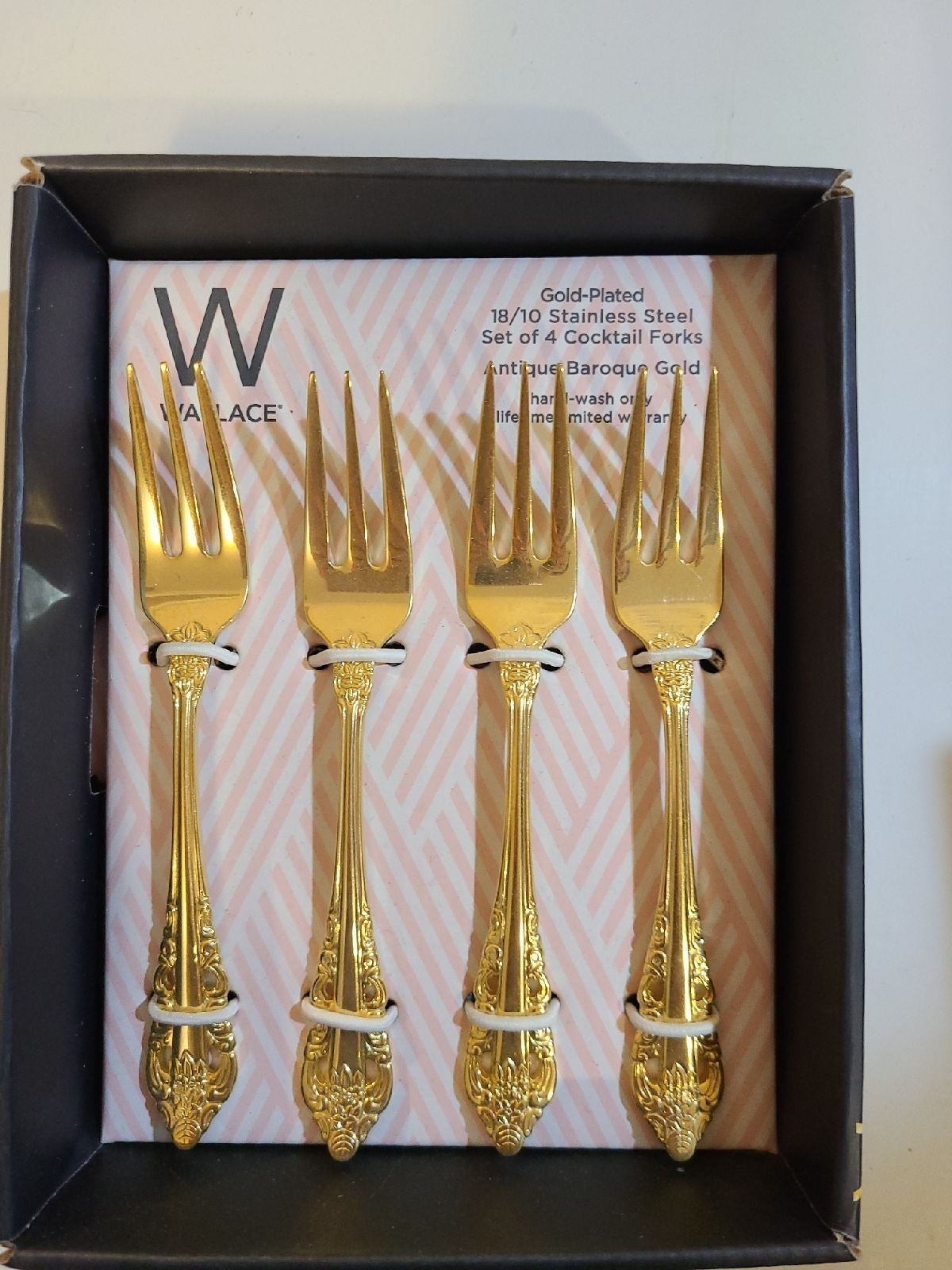 Gold Plated Cocktail Forks