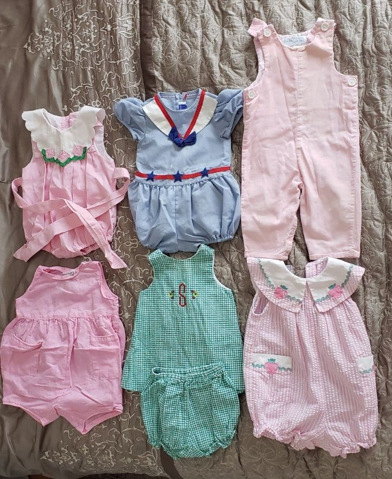 Vintage baby girls clothes 12-18Month