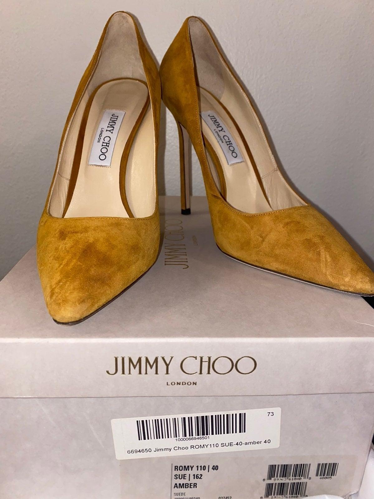 Jimmy Choo ROMY 110 Suede Amber