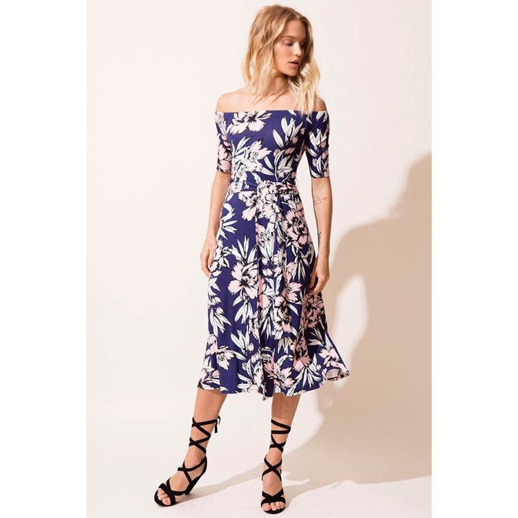 Yumi Kim Floral Skip A Beat Jersey Dress