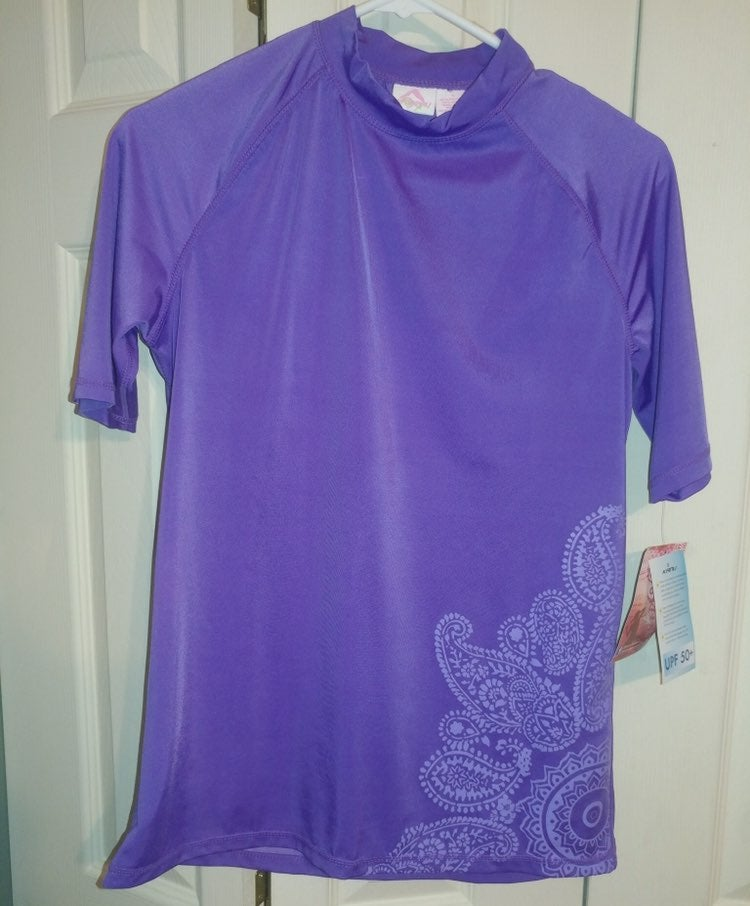 Kanu rashguard top purple Large