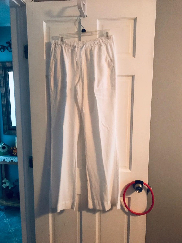 Bella Dahl White Pull On Tie Waist M