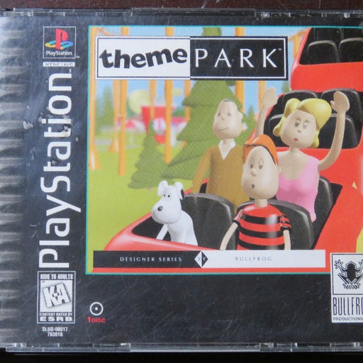 Theme Park Sony PlayStation 1 PS1 Game