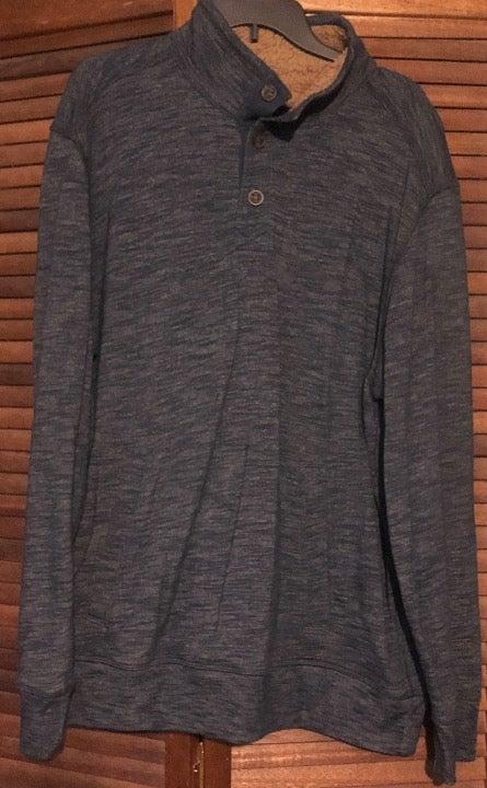 GH Bass & Co mens blue jacket-fleece-XL