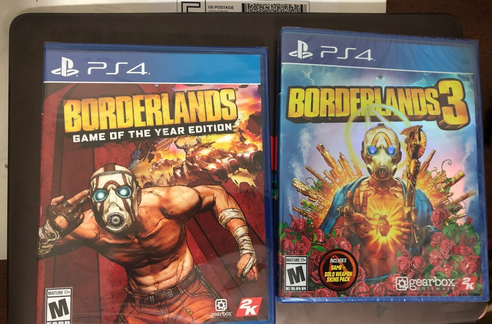 Borderlands goty and  3 Ps4 new