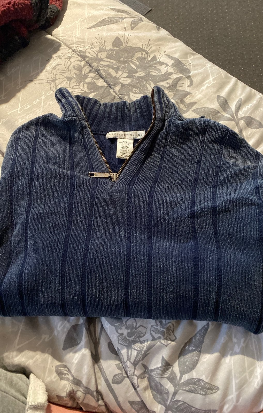 blue comfy sweater
