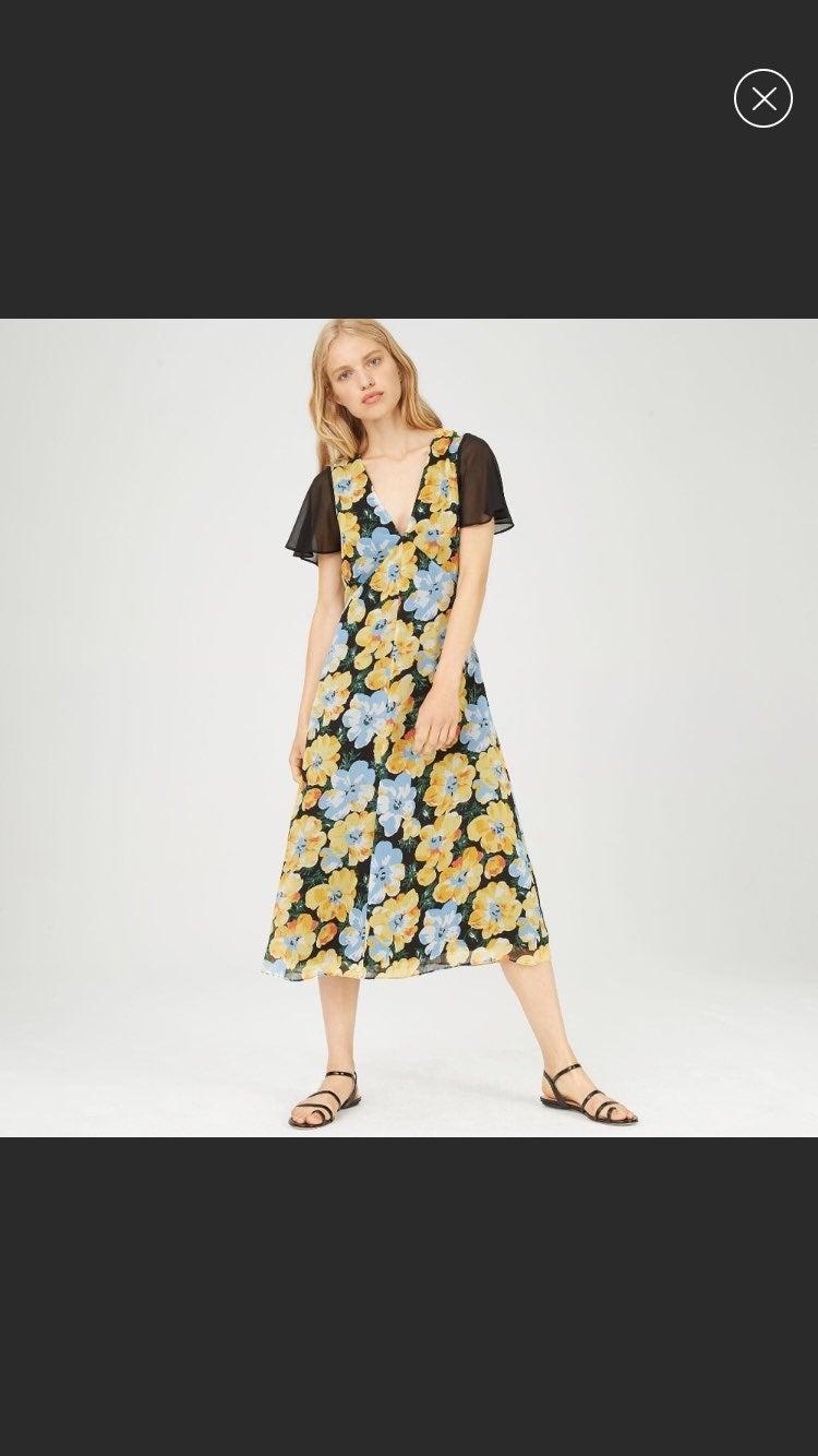 Club Monaco Coran Flutter Floral Dress 4