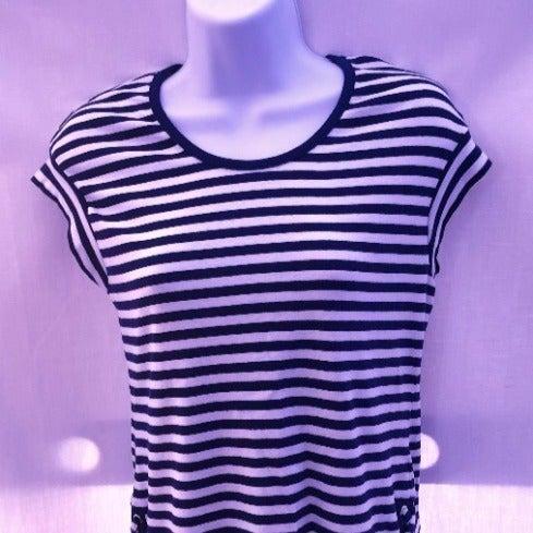 Rafaella Striped Tee Shirt Size S
