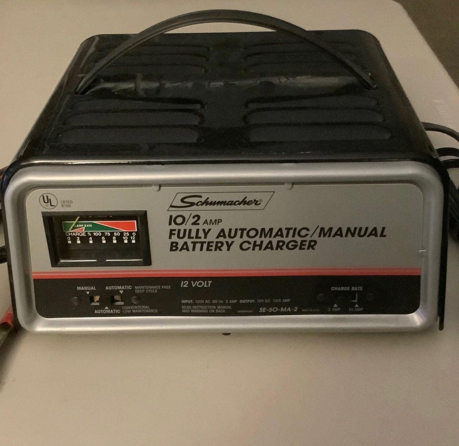 Schumacher 10/2 Amp Battery Charger