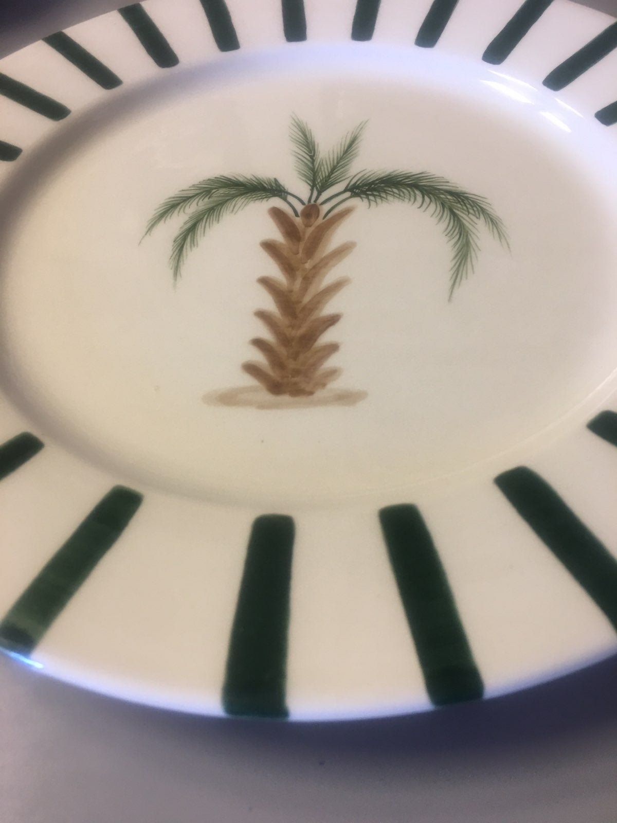 Hand Crafted Palm Tree Dish and Platter