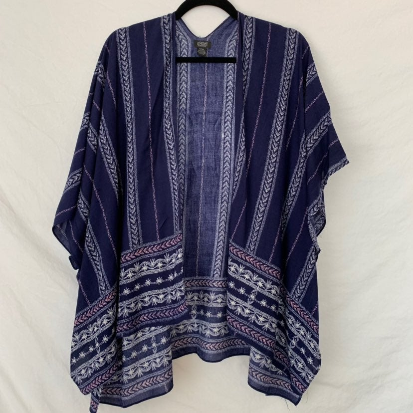 Blue Boho Print Kimono