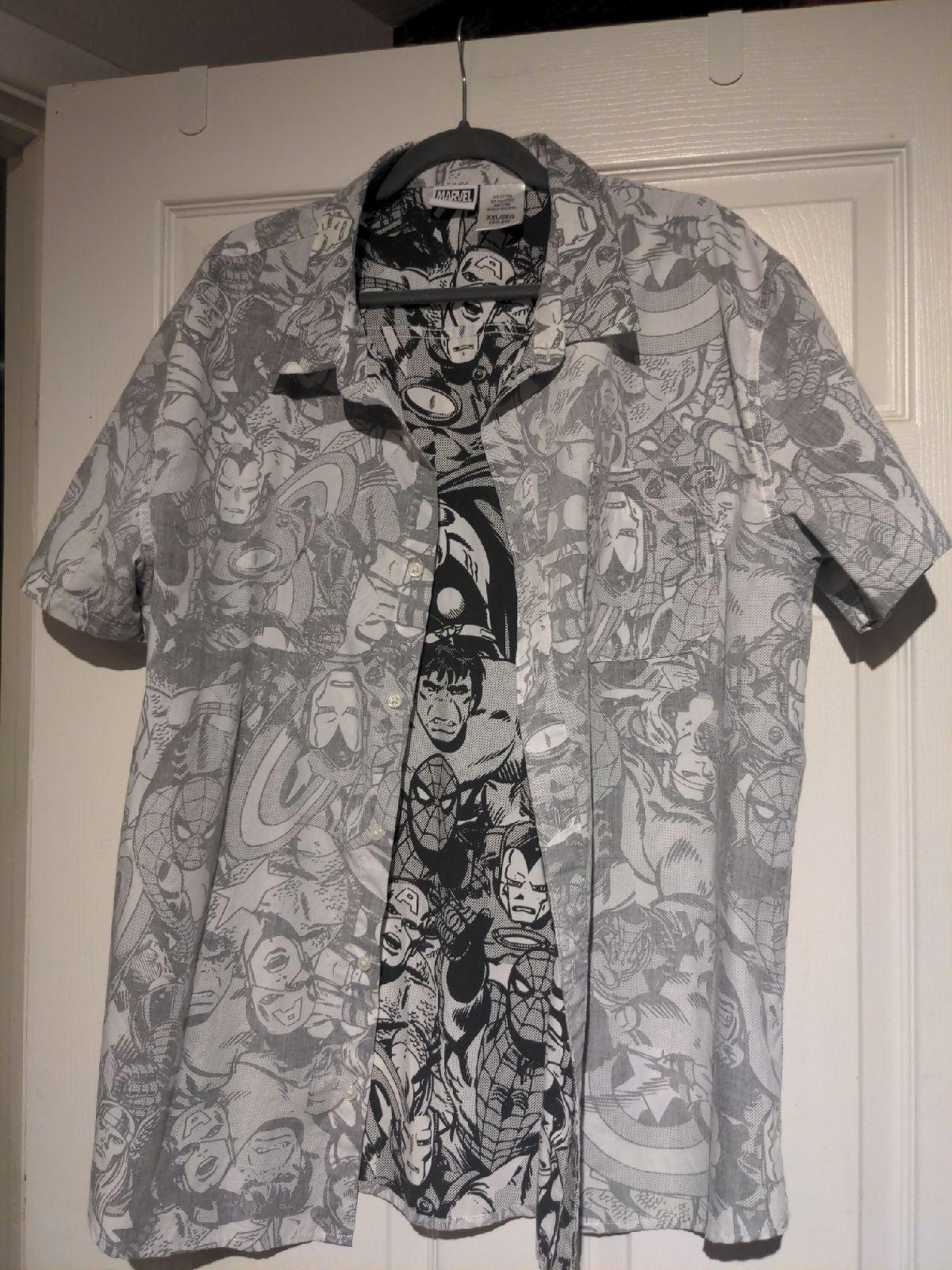 Marvel Button Up Shirt (XXL)