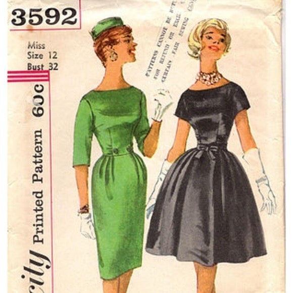 pattern Vintage Simplicity Dresses