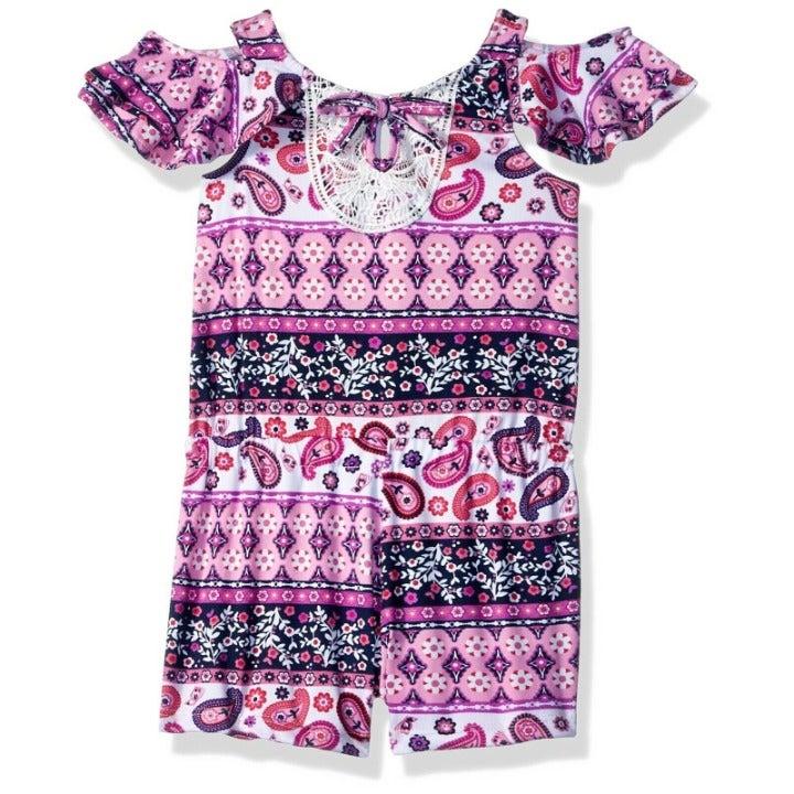 Nannette Girls' Toddler geometric romper