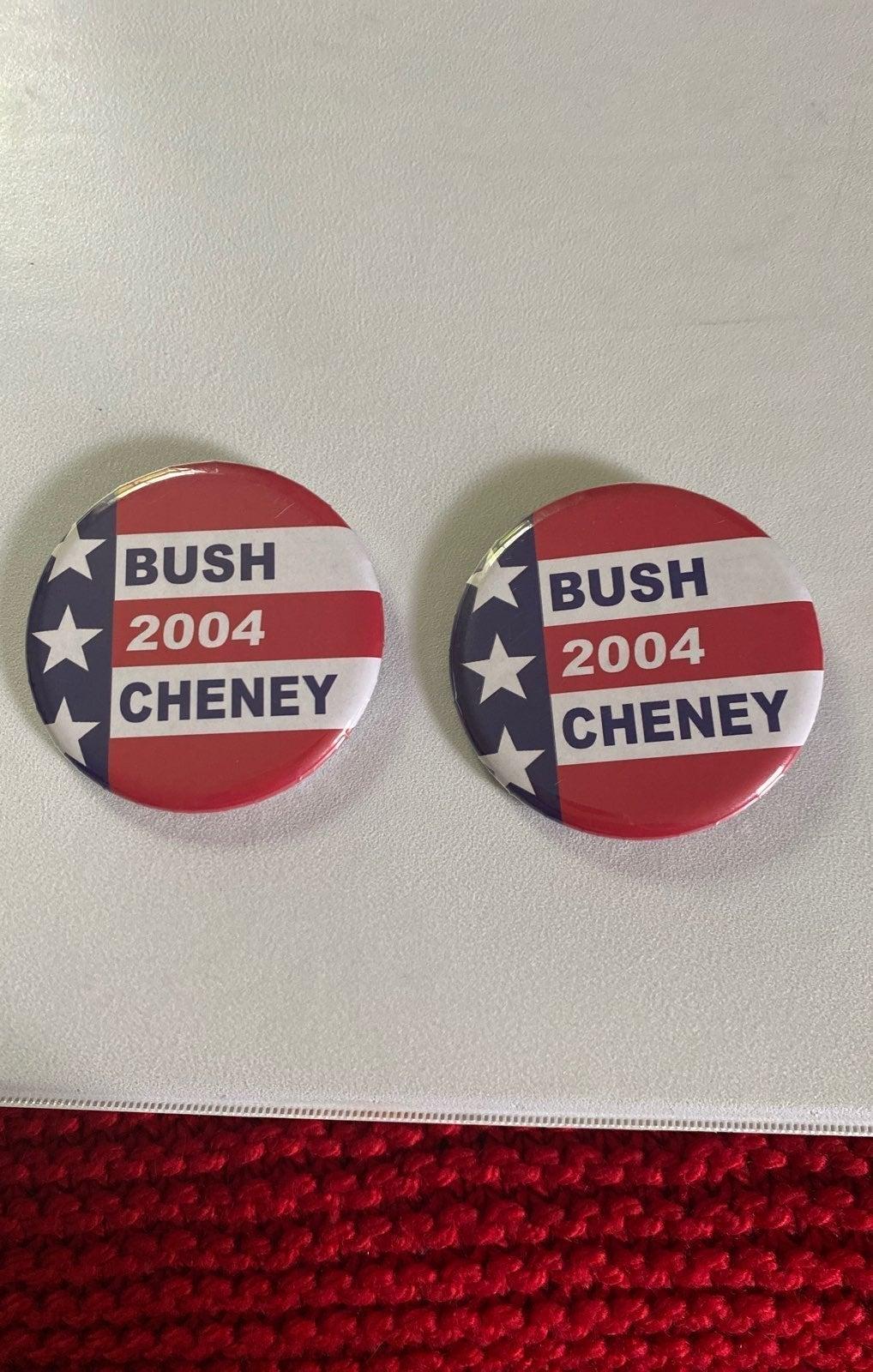 Bush Chaney buttons