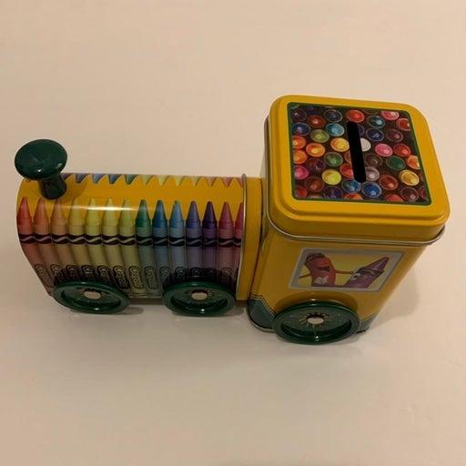Crayola Train Coin / Storage Tin