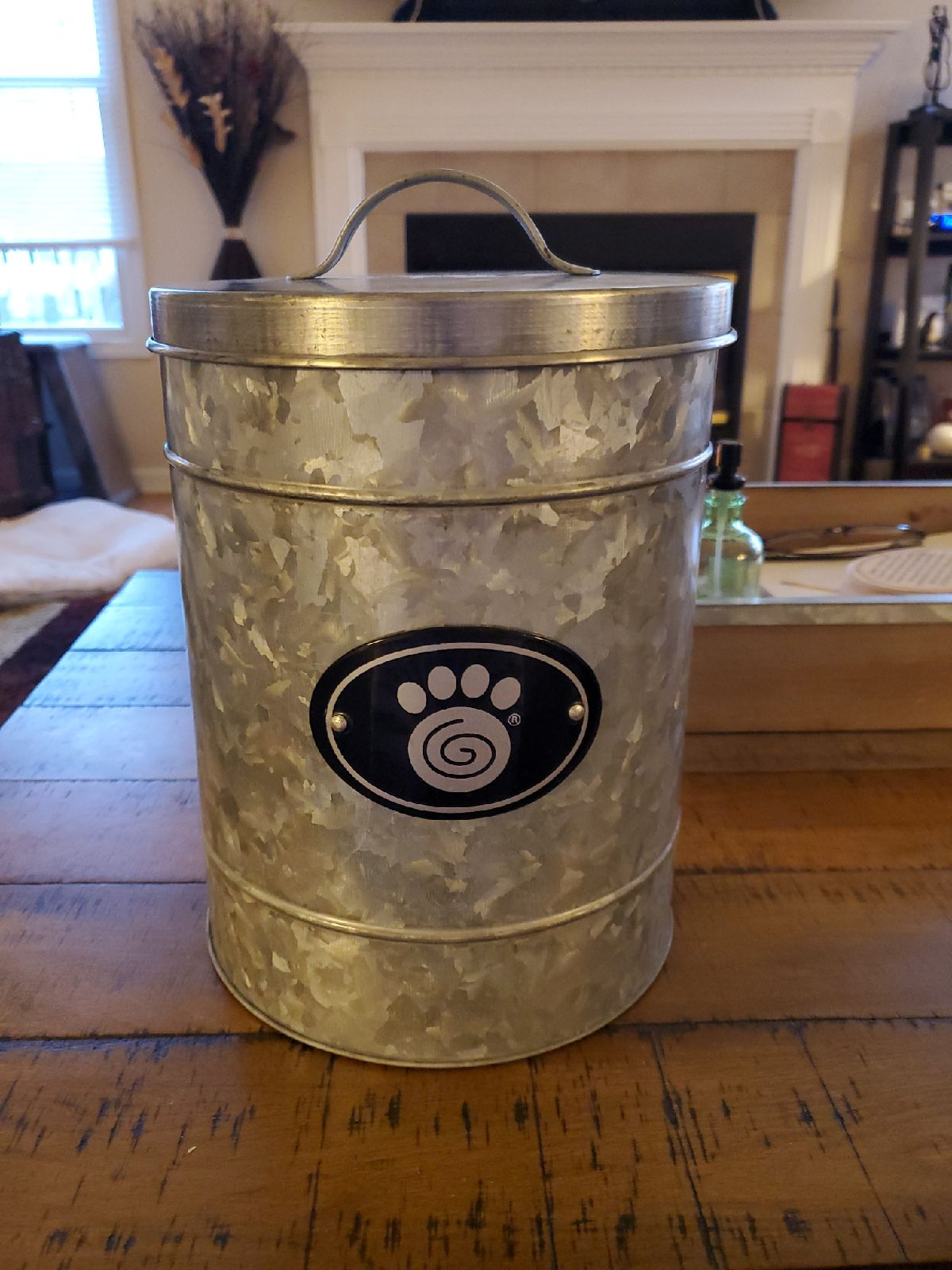 Galvanized treat canister