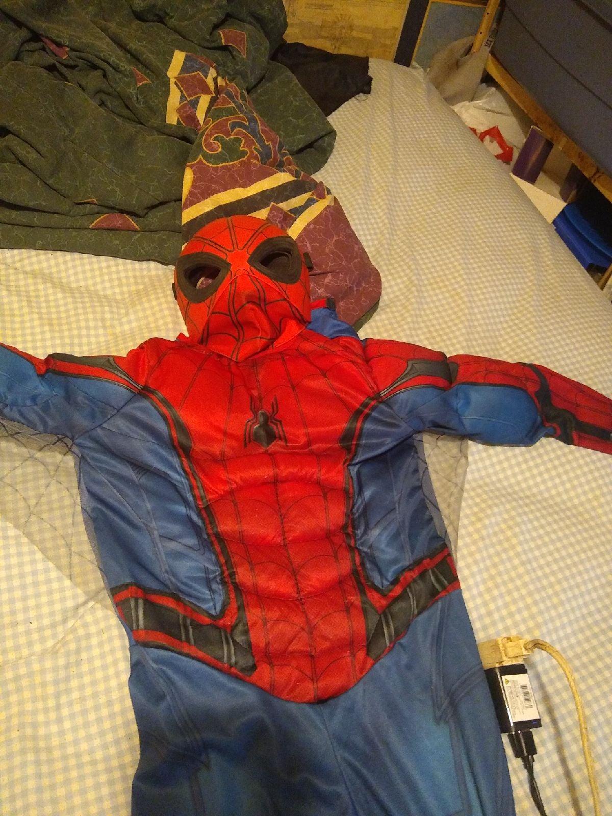 NWT spiderman padded costume/