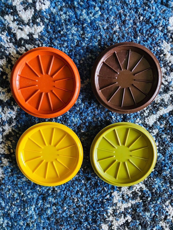 Vibtage tupperware coasters