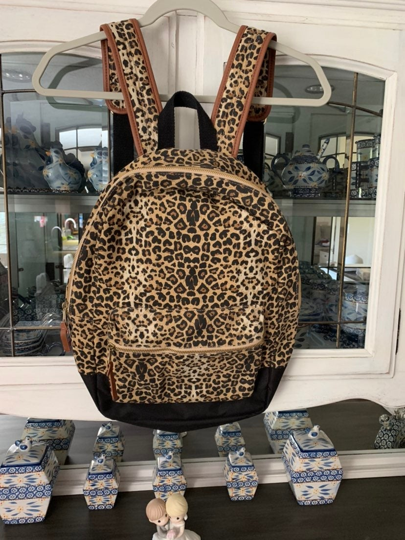 Cheetah Print Bookbag