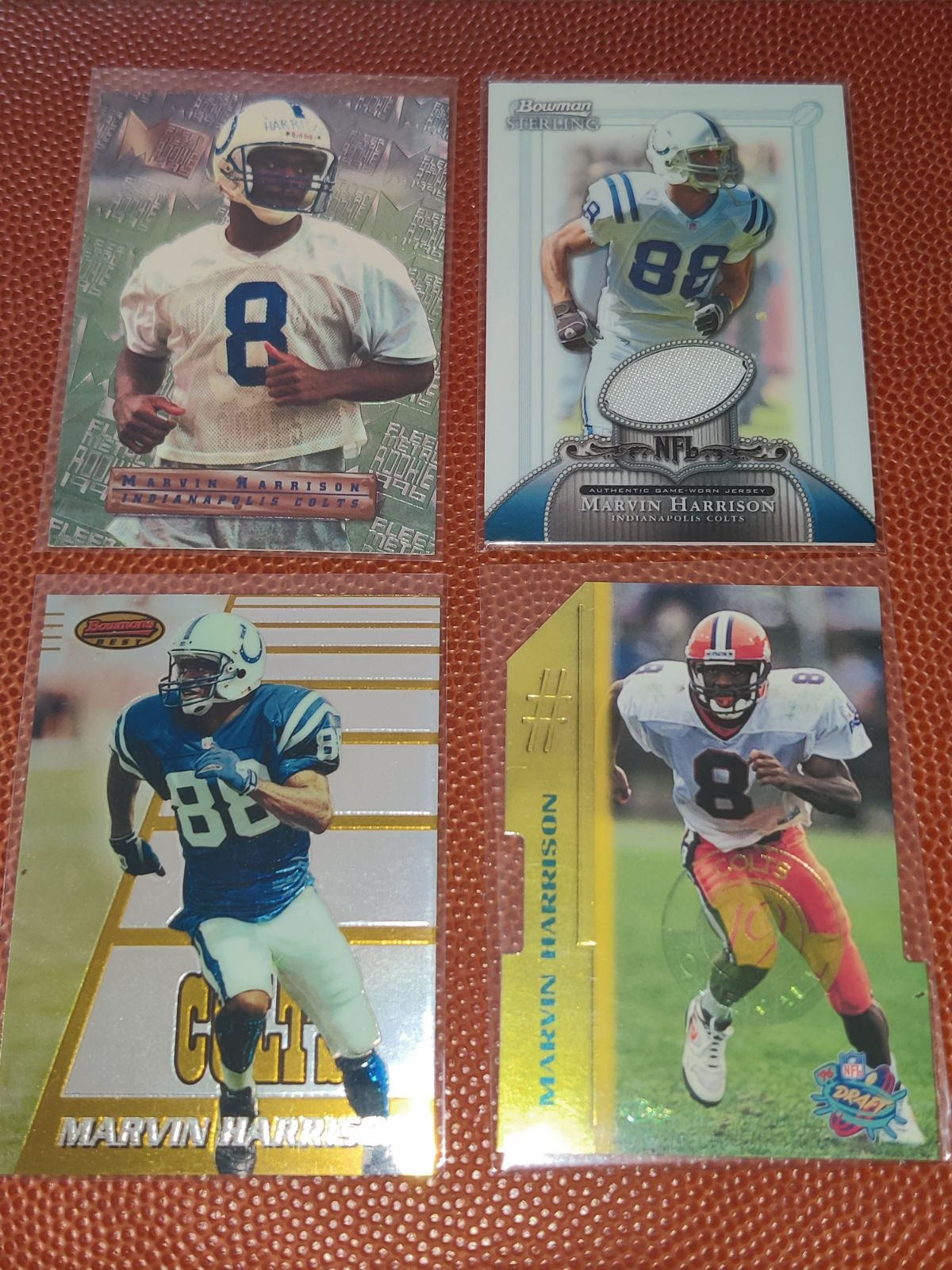 Marvin Harrison Rookie and jersey cards