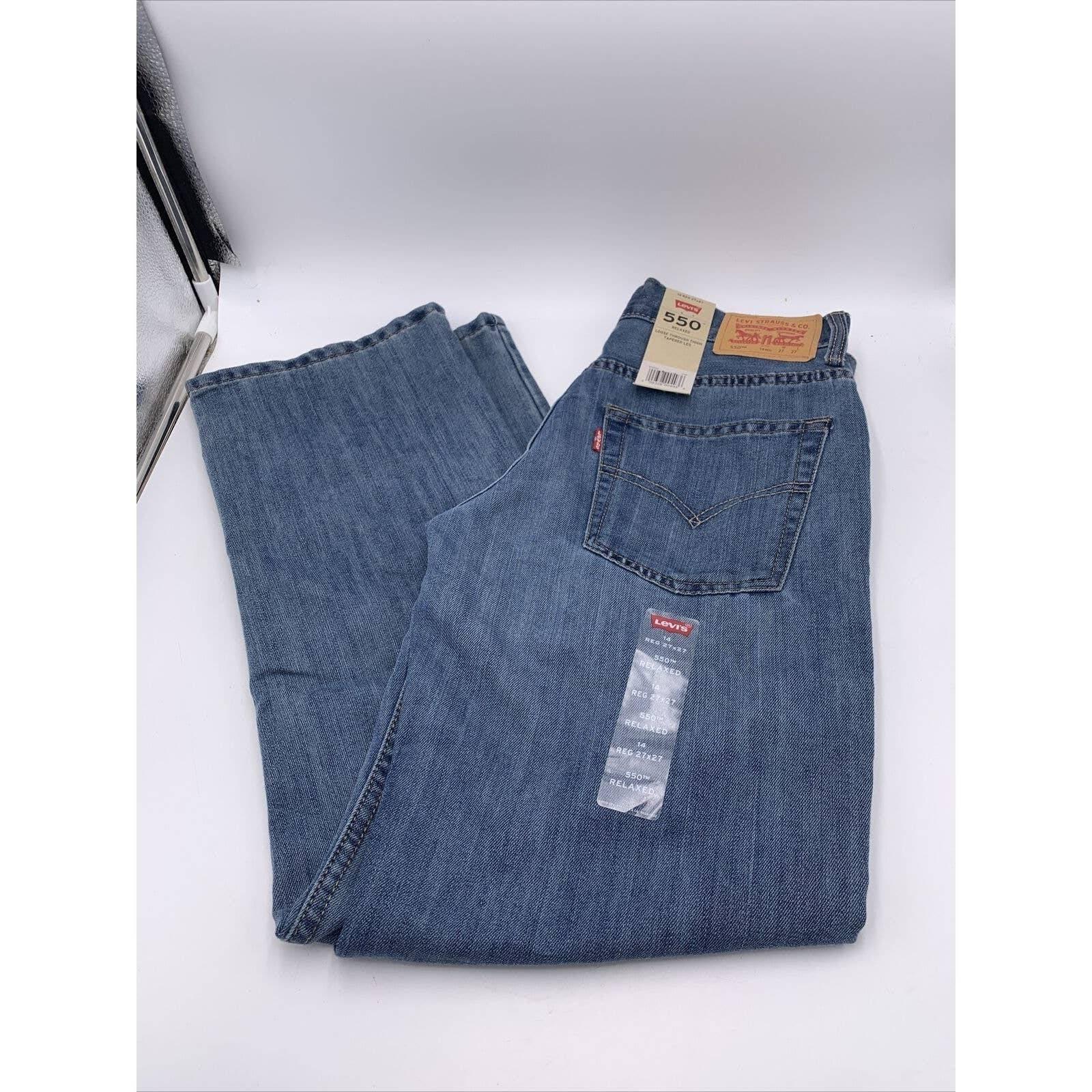 LEVIS Boys Jeans Size 14 Levis 550 27X27