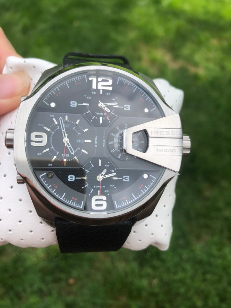 Diesel Uber Cheif Men's Leather Watch