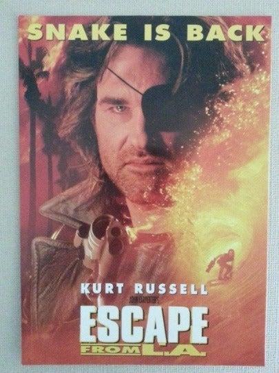Kurt Russell Movie Add Postcard 66