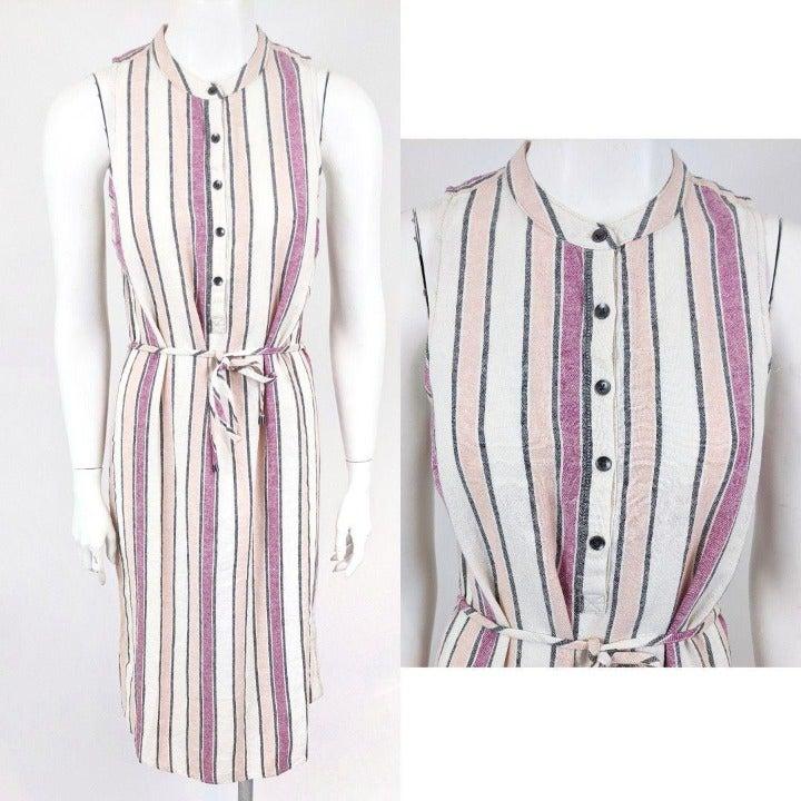 Splendid Linen Striped Shirt Dress NWT