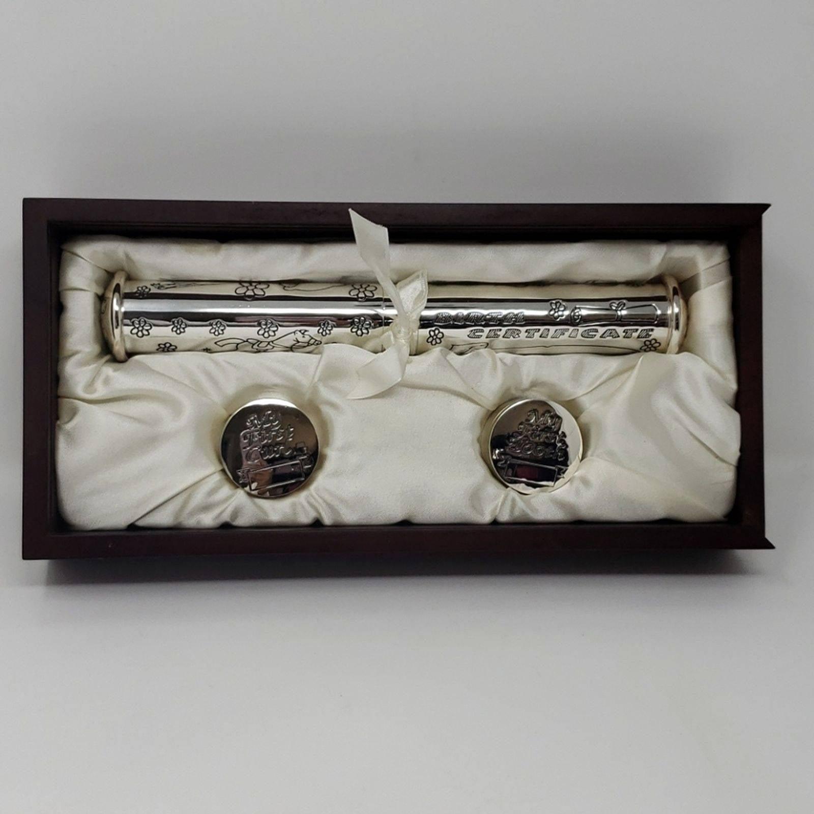 Baby Silver Birth Tooth Hair Box