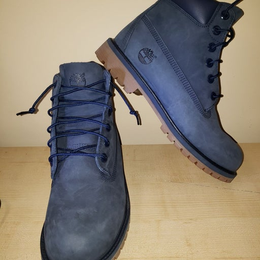 New Timberland Boys Navy Blue Boots