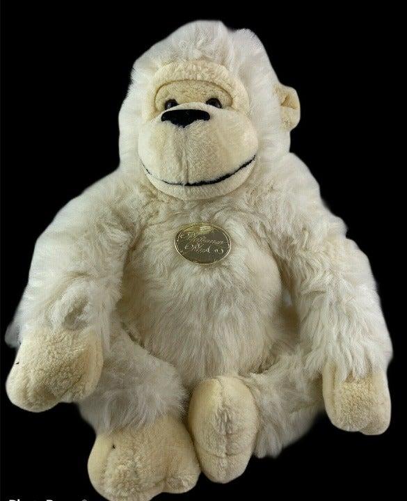 "Vtg Platinum Big Plush Gorilla Plush 15"""
