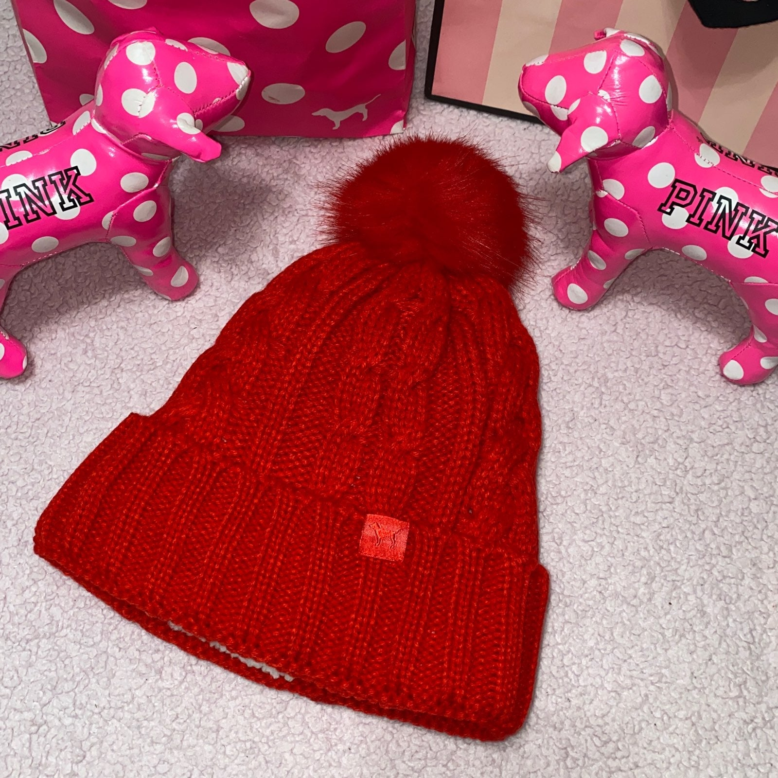 Victoria's Secret Pink Sherpa Beanie
