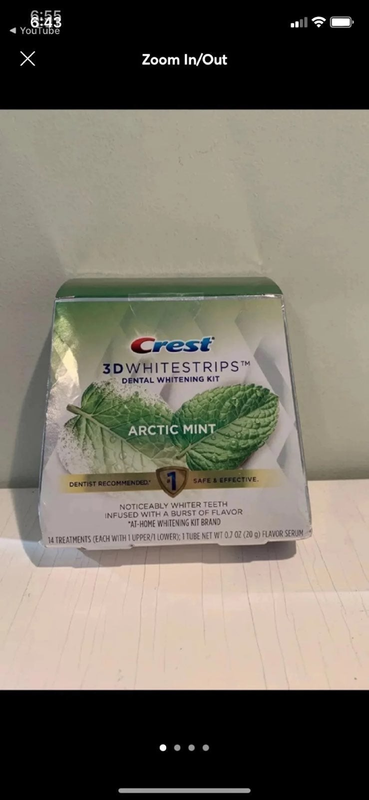 Brand New Crest Whitestrips Arctic Mint