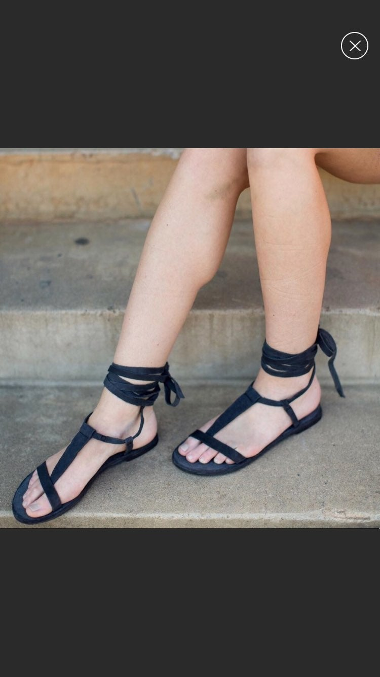 Free People Lace Up Gladiator Sandals